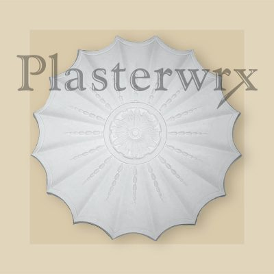 Swag and drop plaster ceiling rose 4CC