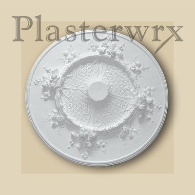 Medium Foral Plaster Ceiling Rose CC62