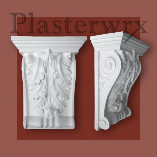 Grand Ornate Scroll Victorian Plaster Corbels CL1