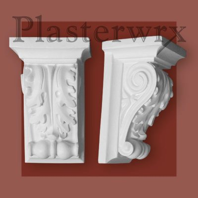 Small Ornate Scroll Plaster Corbel 4CL - in Victorian Style