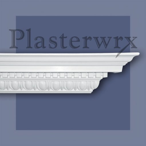Large Ornate Egg & Dart Plaster Cornice 55CO