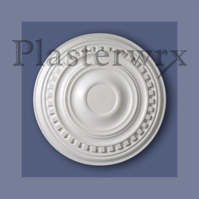 Large Plain Dentil Plaster Ceiling Rose CC25