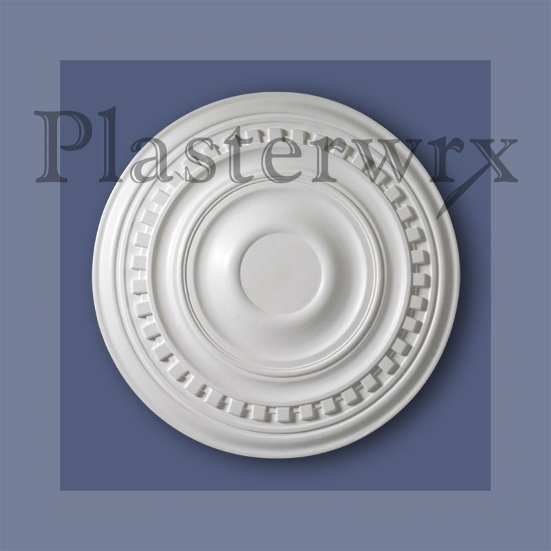 Large Plain Dentil Plaster Ceiling Rose CC25