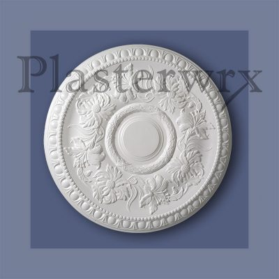 Floral Egg and Dart Plaster Ceiling Rose CC26