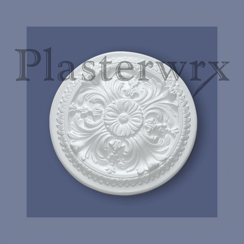 fleur de lys french plaster ceiling rose handmade in yorkshire plasterwrx. Black Bedroom Furniture Sets. Home Design Ideas
