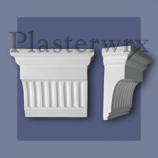 Large Futed Plaster Corbels CL6