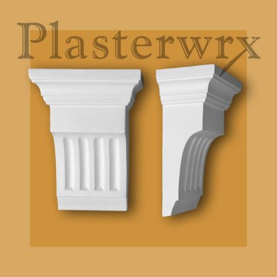Medium Fluted Georgian Plaster Corbels CL7