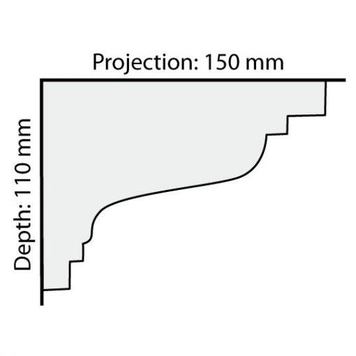 CO33 plaster cornice profile