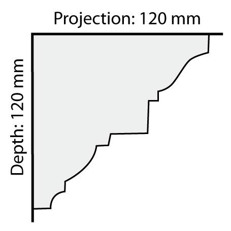 CO46 plaster cornice profile