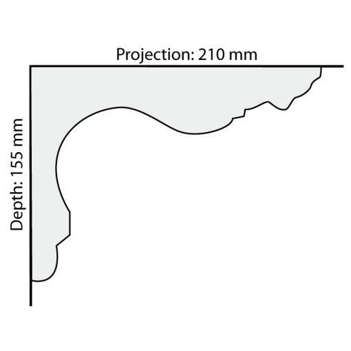 CO53 plaster cornice profile