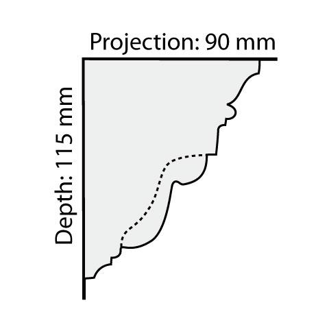 CO6 plaster cornice profile
