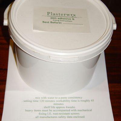 2kg plasterwrx adhesive tub