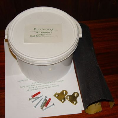 Plaster fire surround fixing kits