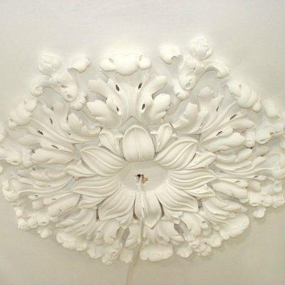 Large Cambridge multi section plaster ceiling rose